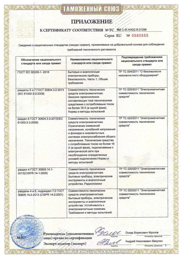 Сертификат отопления Салмерк EAC Таможенный союз